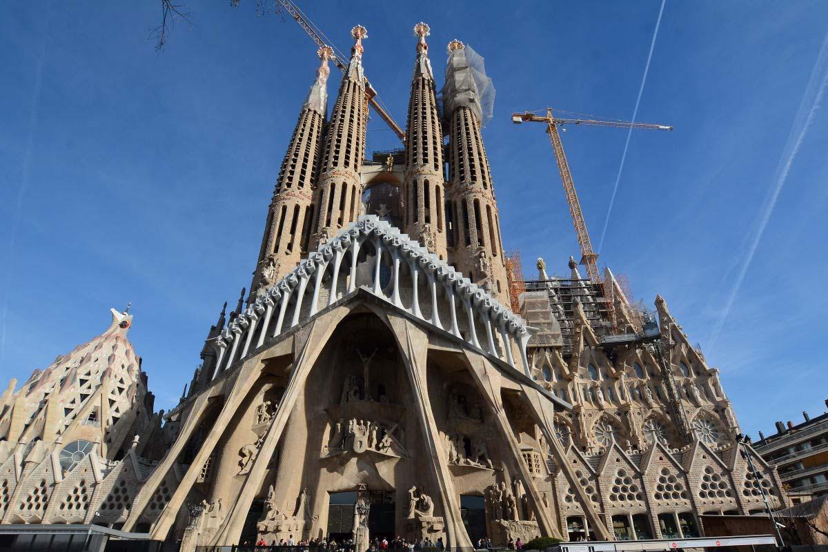 Barcellona sagrada familia esterno