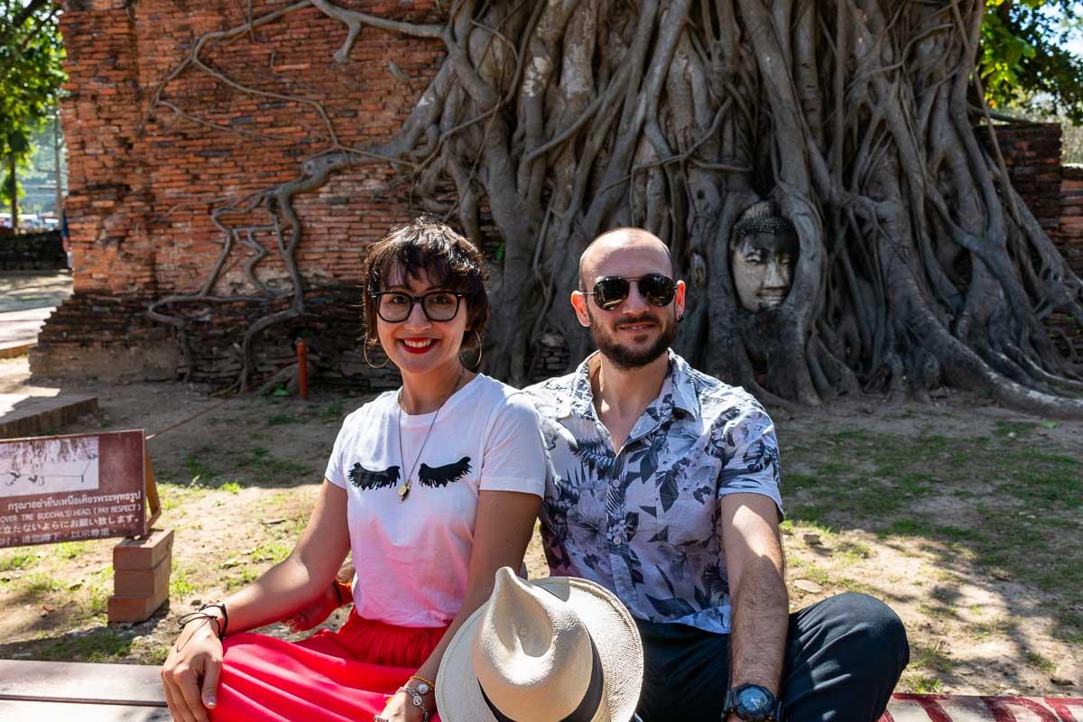 Ayutthaya Buddha nell'albero Cla e Tia2