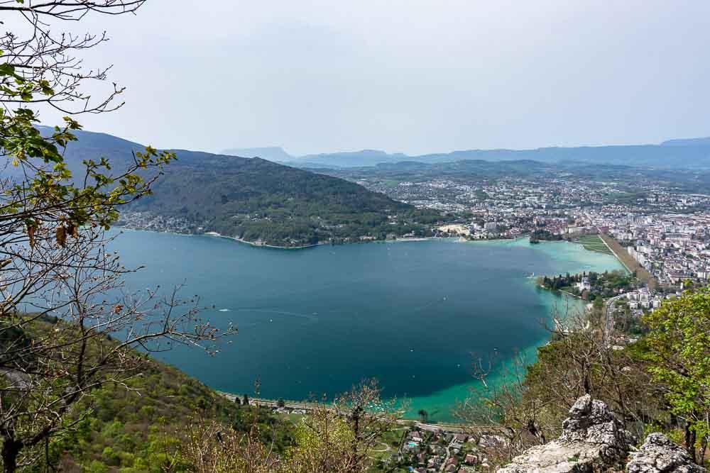 Giro del lago di Annecy Vista dal monte Veyrier