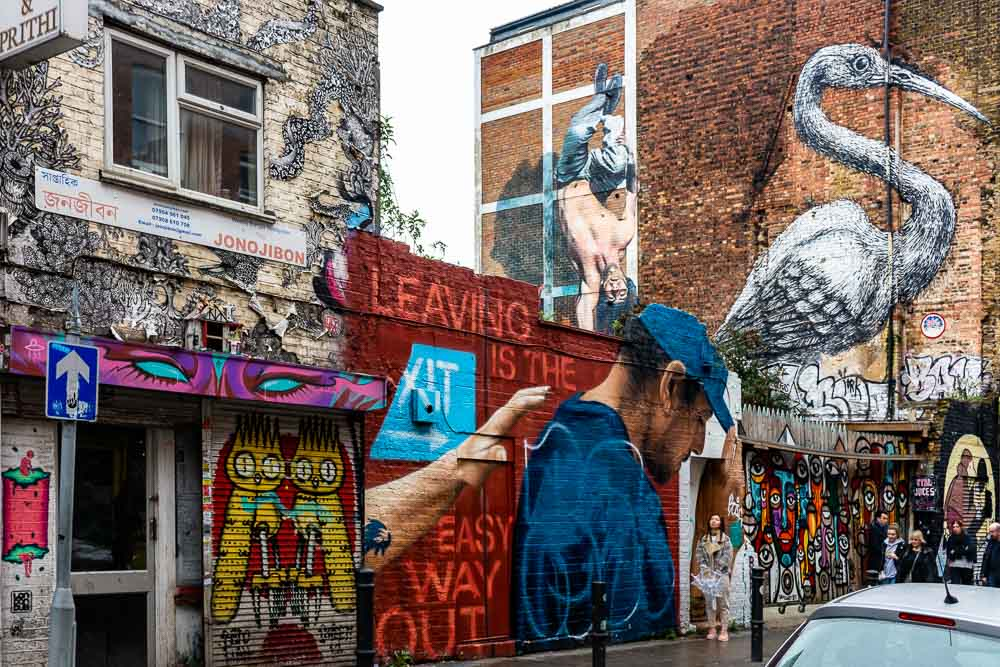Londra insolita shoreditch e brick lane murales