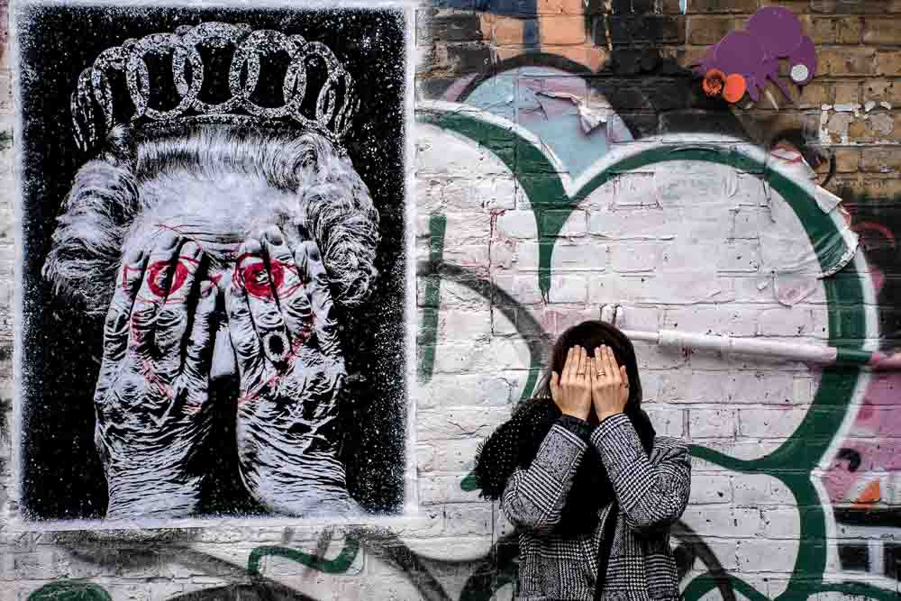 foto di Londra murales Claudia